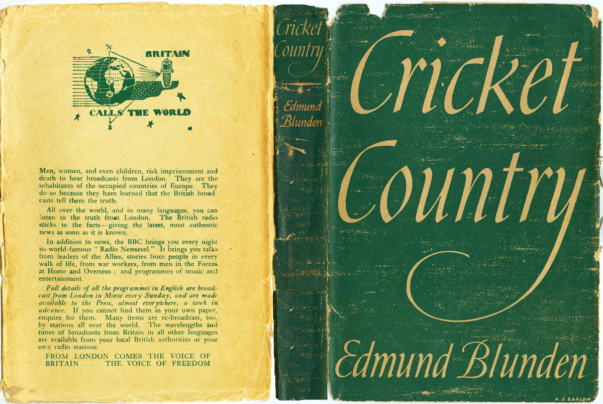 Edmund Blunden cricket country